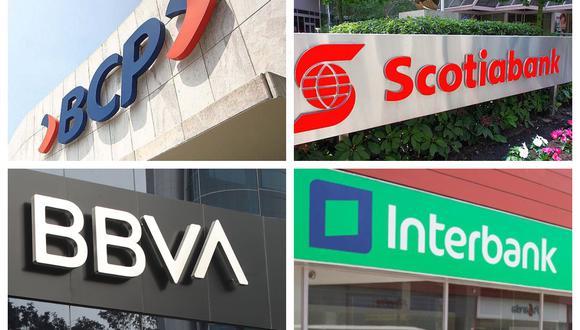 Los cuatro bancos más grandes del país –BCP, BBVA, Scotiabank e Interbank– ofrecerán a las empresas créditos a tasas muy bajas respecto de las corporativas, en el marco del programa Reactiva Perú. (Foto: Archivo)