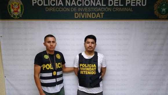 Jherson Andrés Salazar Locun acusado de almacenar y publicar pornografía infantil fue trasladado a la sede de la Divindat. (Foto: Difusión PNP)
