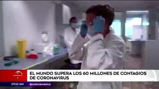 El mundo supera los 60 millones de contagios de COVID-19