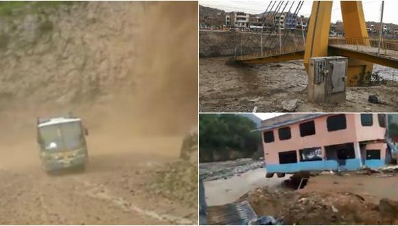 Videos que muestran el destructor paso de los huaicos por Lima