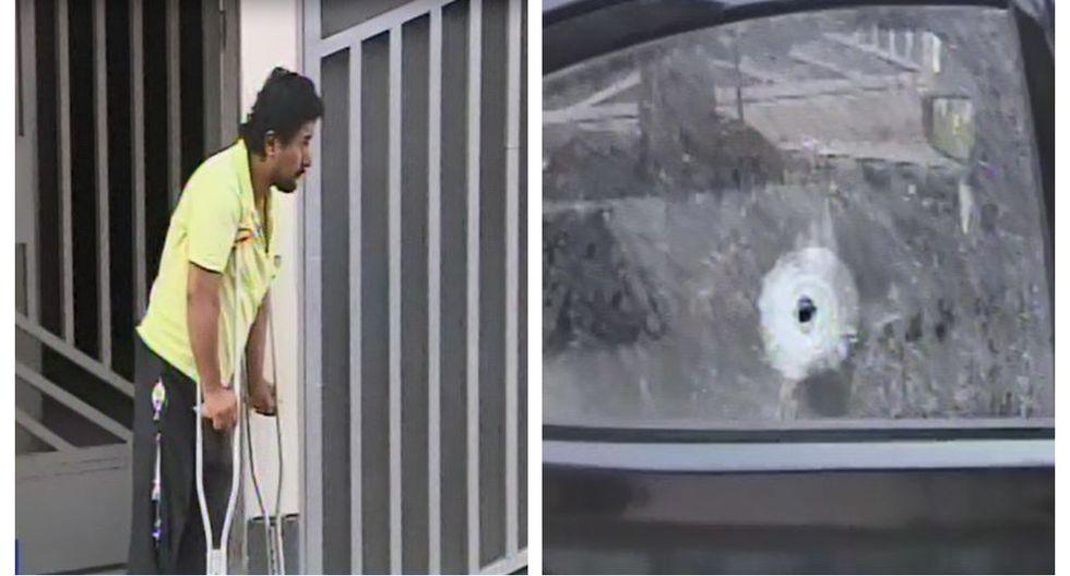Edward García Quispe denunció que fue atacado a balazos cuando iba a bordo de su vehículo en Comas. (Captura: Canal N)