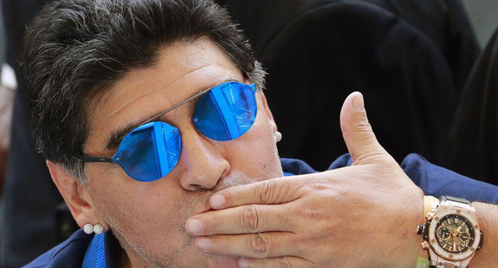 Diego Maradona manifestó su apoyo a la Selección de Colombia previo al duelo con Inglaterra. (Foto: EFE)