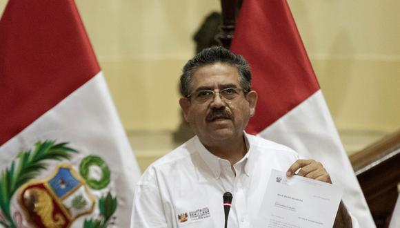 Manuel Merino de Lama se mostró confiado en que el pleno apruebe impedimentos para postular este lunes 13. (Foto: Renzo Salazar / GEC)