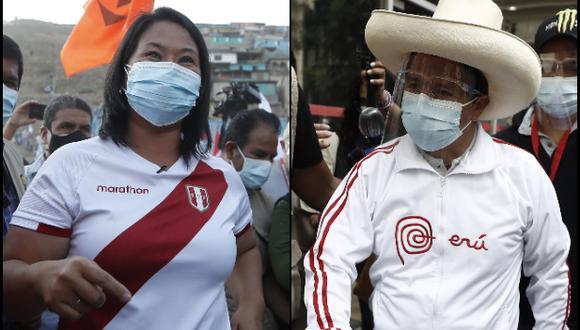 Keiko Fujimori y Pedro Castillo denunciaron actos de violencia en su contra. (Fotos: Archivo El Comercio)