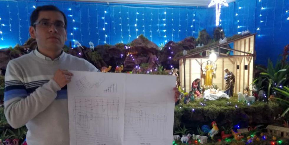 Como es tradición, no solo las iglesias deciden escenificar el nacimiento de Jesús. También los hogares cajamarquinos diseñan creativos pesebres (Foto: Martín Alvarado)