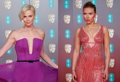 BAFTA 2020 : Charlize Theron y Scarlett Johansson ponen color en medio del negro que dominó la alfombra roja