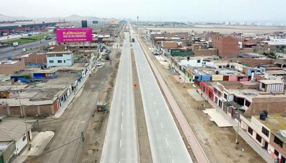 La infraestructura vial, que consta de una pista de concreto, tiene dos carriles en ambos sentidos y recorre los distritos de Lurín, Punta Hermosa, Punta Negra y San Bartolo. (Difusión)