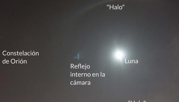 El radio de este halo fue de unos 22 grados sexagesimales. (Foto: CONIDA)