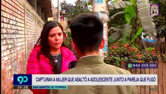 La Policía Nacional capturó a Génesis Carolina Bastidas Mercado (32) mientras que su cómplice se dio a la fuga.  (Latina)