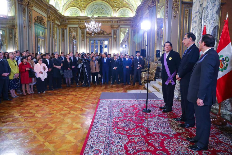 Gastón Acurio recibió reconocimiento en Palacio de Gobierno (Foto: Andina)
