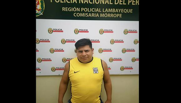 """Julio Santisteban Suclupe (32), alias """"Chanín"""", fue detenido por estar implicado en la presunta violación de una adolescente de 15 años en Mórrope (Lambayeque)."""