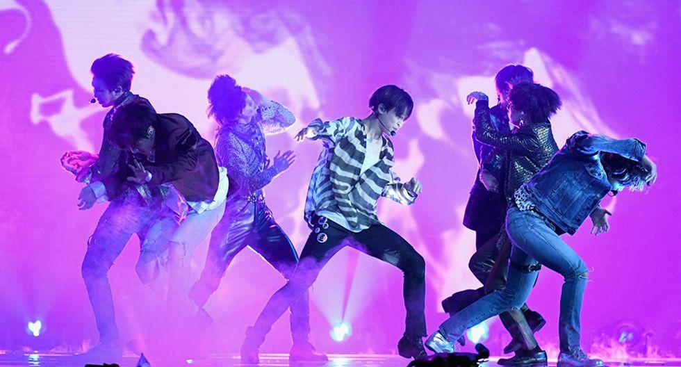 """BTS cantó """"Fake Love"""" en la ceremonia de los Billboard 2018. (Foto: Agencias)"""