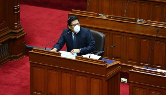 Primer ministro Vicente Zeballos ya había sido convocado por la comisión especial de seguimiento por el COVID-19. (Foto: PCM)