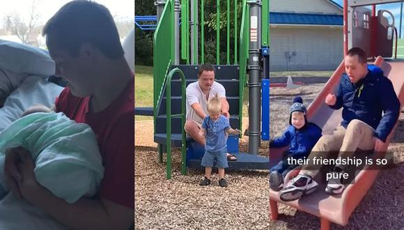 El inseparable vínculo entre un tío con síndrome de Down y su sobrino. (Foto: YOUTUBE - CATERS)