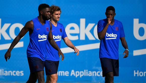 Griezmann y su primer entrenamiento con el Barcelona: sonrisas, clan francés y su momento con Rakitic. (Foto: AFP)