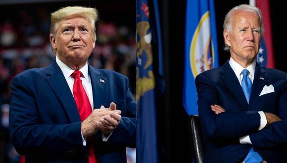 Elecciones Estados Unidos 2020: Donald Trump y Joe Biden.