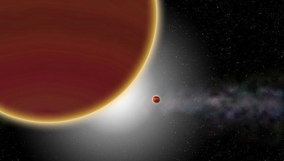 Representación artística del sistema Beta Pictoris. (Imagen: P Rubini / AM Lagrange/ESO)