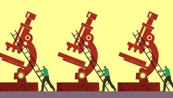 """""""La política tiene un ritmo, el de la inmediatez: la acción del político es pragmática, porque debe resolver problemas urgentes. Por el contrario, el ritmo del científico es más reflexivo, porque tiene que experimentar y probar que su metodología puede funcionar"""". (Ilustración: Víctor Aguilar)"""