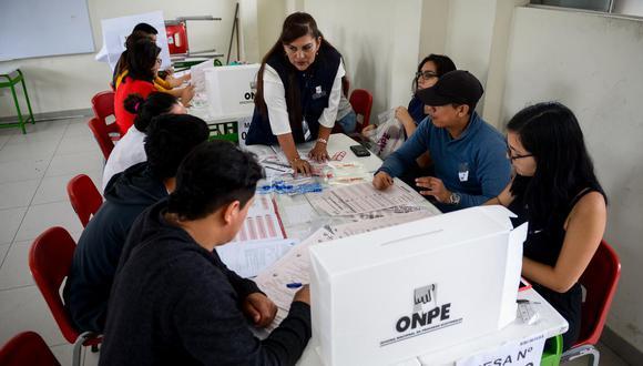 Los miembros de mesa que fueron sorteados para las Elecciones Generales de este 11 de abril recibirán una remuneración de 120 soles. (Foto: GEC)