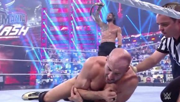 Roman Reigns retuvo el Título Universal de la WWE tras derrotar a Cesaro en Wrestlemania Backlash