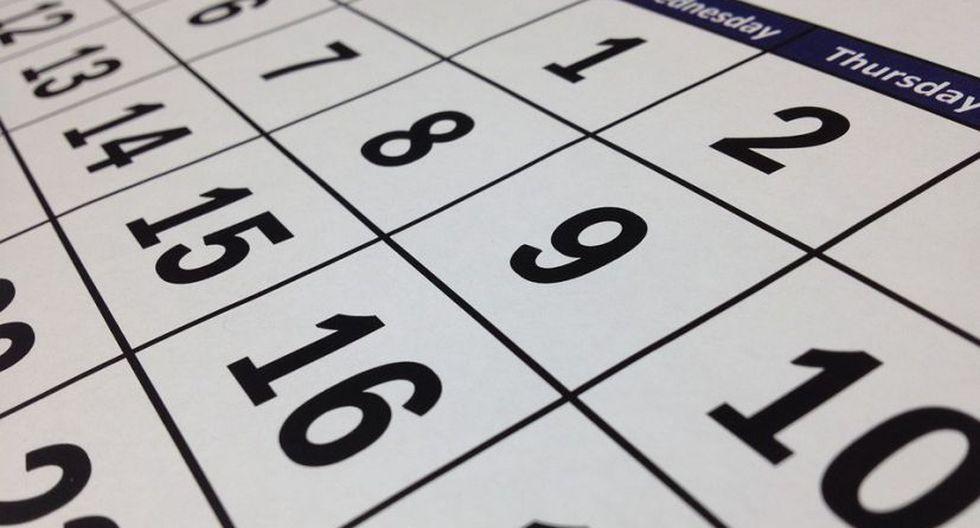 ¿Cuál es la diferencia entre los feriados y días no laborables? (Foto: Pixabay)