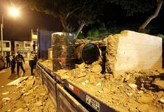 Lurín: detienen a conductor de tráiler que transportaba 10 cilindros de acetona camuflados en bloque de concreto | FOTOS