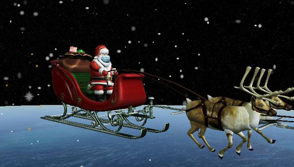 Navidad 2020: un programa del Norad informa en tiempo real la trayectoria de Papá Noel. (Imagen: Norad).