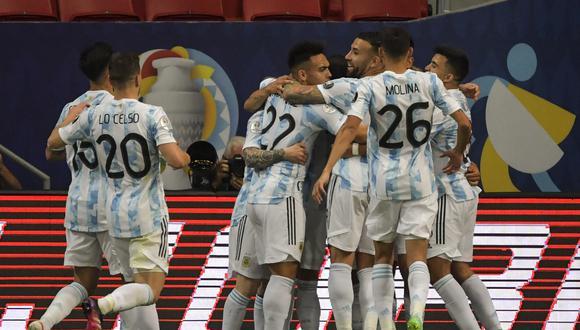Argentina llegó a los 4 puntos en el Grupo A de la Copa América 2021 (Foto: AFP)