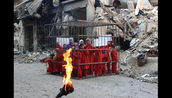 Siria: Opositores difunden fotos inspiradas en Estado Islámico