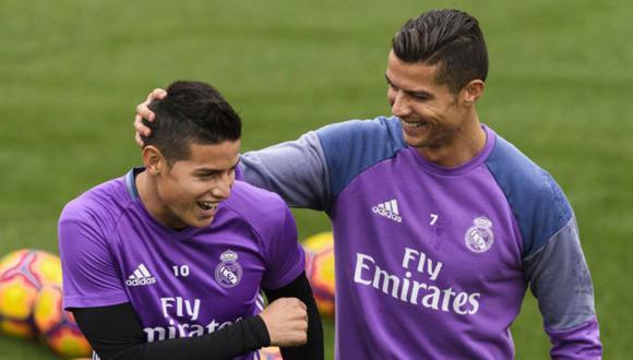 """Según el periódico """"As"""", Cristiano Ronaldo habría llamado a James Rodríguez para convencerlo de que se sume al nuevo proyecto de la Juventus. ¿Se dará esta nueva dupla ofensiva? (Foto: AP)"""