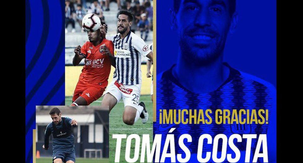 Tomás Costa se despidió de Alianza Lima (Foto: Alianza Lima)