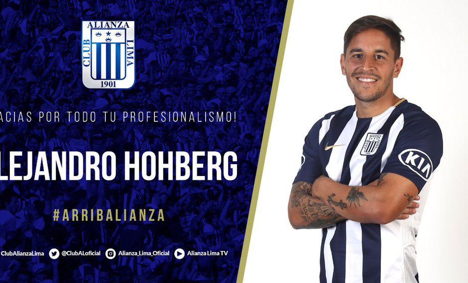 Alianza Lima confirmó el alejamiento de Alejandro Hohberg, el mismo día que Universitario anunció lo anunció como probable incorporación para la temporada 2019. (Foto: Twitter)