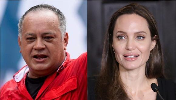El dirigente del chavismo afirmó que visita de Jolie a Perú es un artificio que han usado en otros países. | Foto: EFE / AFP