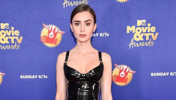 Lily Collins en la gala de los MTV Movie & TV Awards 2020. (Foto: @lilyjcollins)