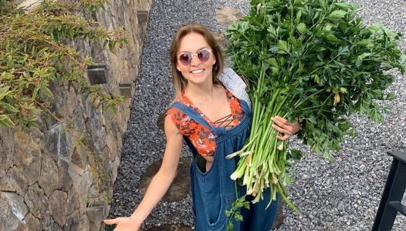 Angelique Boyer contó ser muy feliz cultivando sus verduras en casa. (Foto: Instagram /@angeliqueboyer).