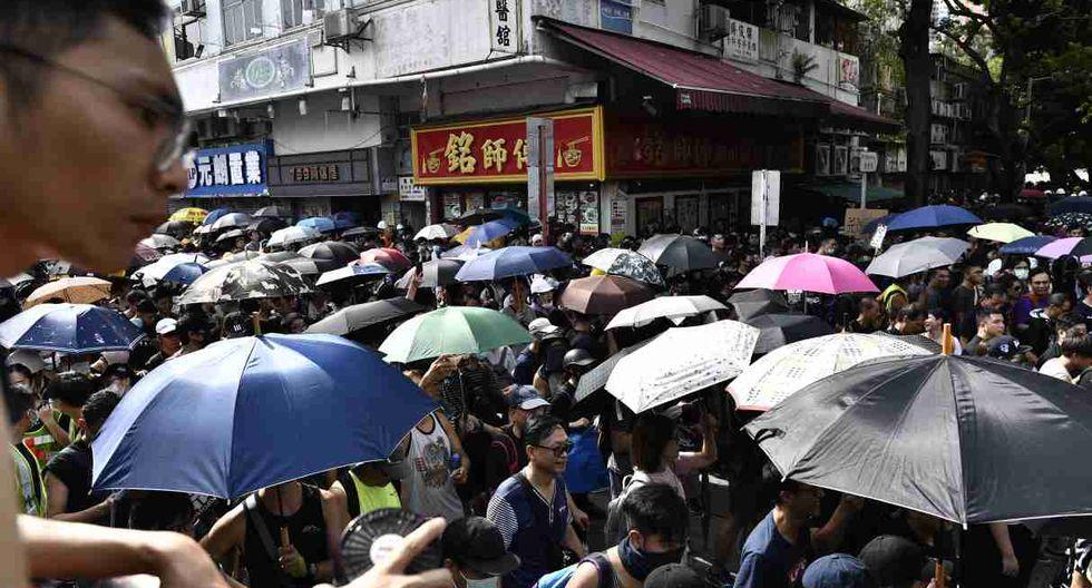 A diferencia de protestas anteriores, pocos manifestantes llevaban carteles o pancartas. (Foto: AFP)