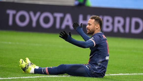 Neymar se lesionó en el partido ante Caen por la Copa de Francia. (Foto: AFP)