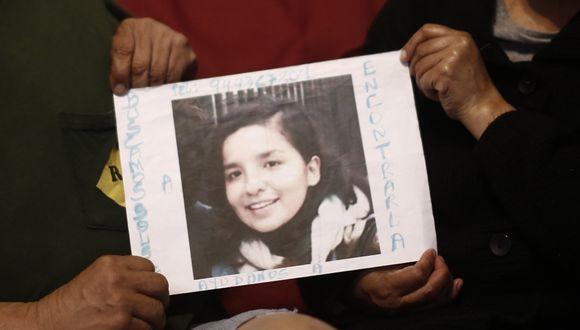 Luego de más de tres años, Andrea Aguirre confesó ayer ante los agentes de la División de Homicidios que descuartizó a Solsiret Rodríguez y, con ayuda de Kevin Castañeda, ocultó sus restos en la vivienda. (Foto: GEC)