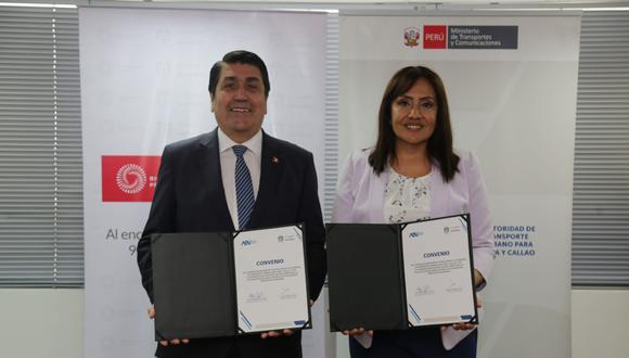 El acuerdo fue firmado por el alcalde de San Isidro, Augusto Federico Cáceres Viñas, y la presidenta de ATU, María Jara. (Foto: @munisanisidro)