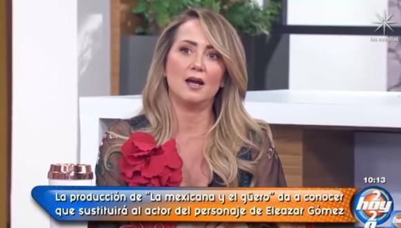 """Andrea Legarreta condena violencia de Eleazar Gómez contra Stephanie Valenzuela: """"Estuvo terrorífico"""". (Foto: captura de video)"""