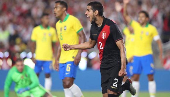 Peru Vs Brasil Luis Abram Marco El 1 0 Con Este Cabezazo En Los Angeles Video Deporte Total El Comercio Peru