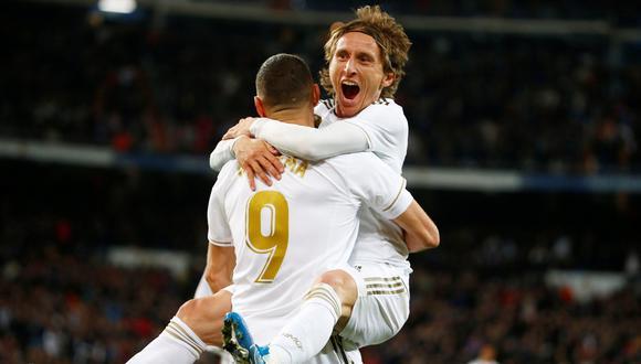 Real Madrid venció a la Real Sociedad, por la jornada 14 de la Liga Santander, con goles de Benzema, Valverde y Modric. (Foto: REUTERS/Javier Barbancho)