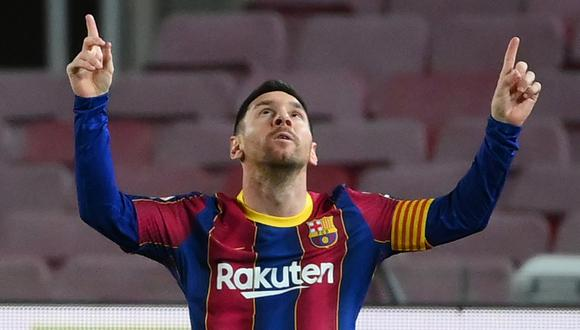 Messi marcó un gol en el triunfo de Barcelona sobre Athletic Club. | Foto: AFP