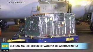 Perú recibió un lote de 163,200 dosis de la vacuna AstraZeneca