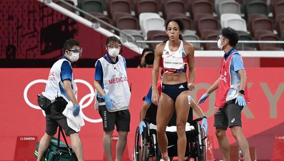 Katarina Johnson-Thompson protagonizó uno de los momentos más conmovedores de Tokio 2020 | Foto: AFP.