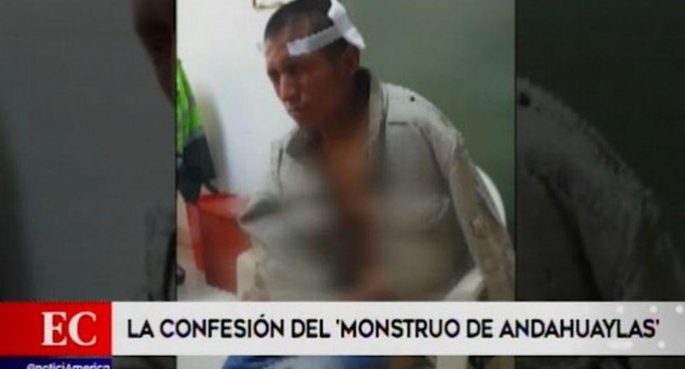 Fiscalía pedirá 18 meses de prisión preventiva para Michael Oscco Quispe, quien confesó que asesinó a dos niñas en Andahuaylas. (Captura: América Noticias)