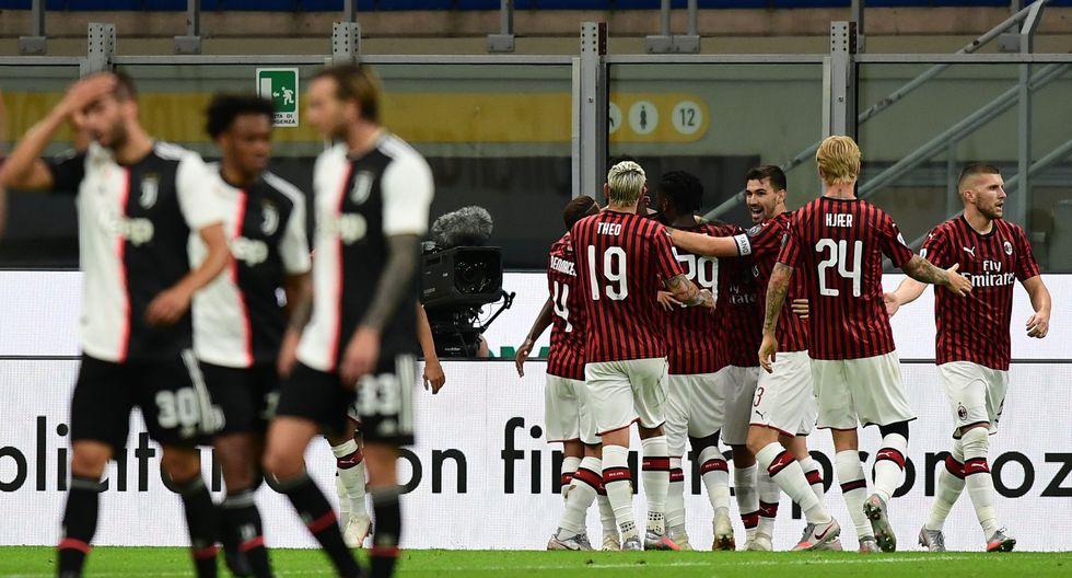 La remontada de Milan a Juventus en San Siro por la Serie A. (Foto: AFP)