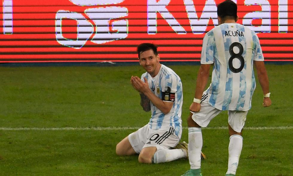 Argentina se coronó campeón de la Copa América 2021 tras vencer 1-0 a Brasil con gol de Di María | Foto: AFP