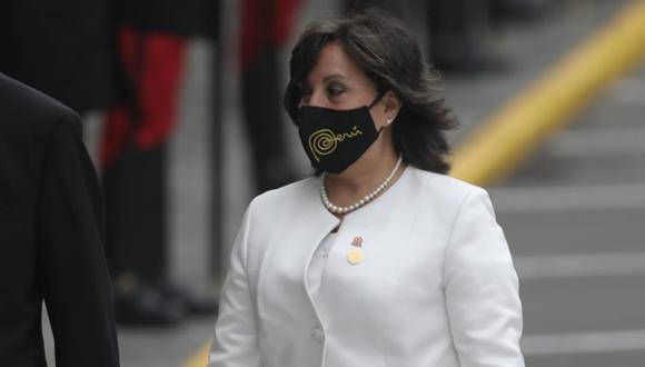 Dina Boluarte fue nombrada como ministra de Desarrollo e Inclusión Social en el gabinete de Guido Bellido. (Foto: Anthony Niño de Guzmán / @photo.gec)