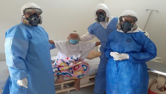 Piurana de 90 años vence al coronavirus tras entrar a UCI por cuadro de neumonia. (Foto: Hospital Privado del Perú)